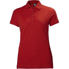 Helly Hansen CrePique 2 Polo Mujer, rojo
